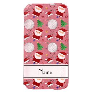 Personalized name white christmas golfing incipio watson™ iPhone 6 wallet case