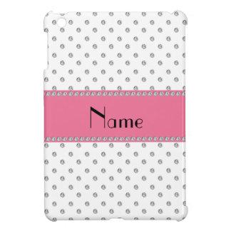 Personalized name white diamonds case for the iPad mini