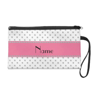 Personalized name white diamonds wristlet clutch