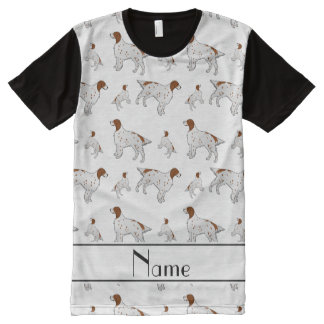 Personalized name white English Setter All-Over Print T-Shirt