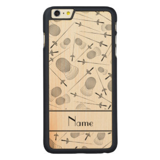 Personalized name white fencing pattern iPhone 6 plus case