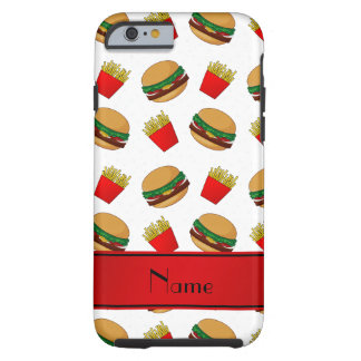 Personalized name white hamburgers fries tough iPhone 6 case