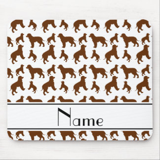 Personalized name white Irish Water Spaniel dogs Mouse Pad
