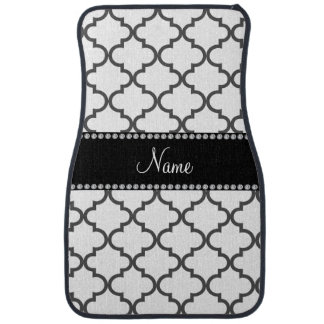 Personalized name White moroccan Floor Mat