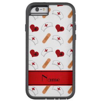 Personalized name white nurse pattern tough xtreme iPhone 6 case