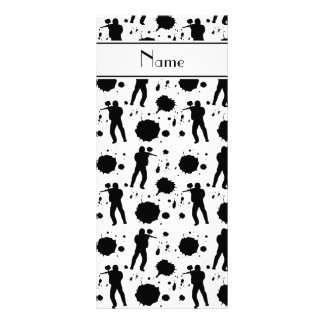 Personalized name white paintball pattern rack card template