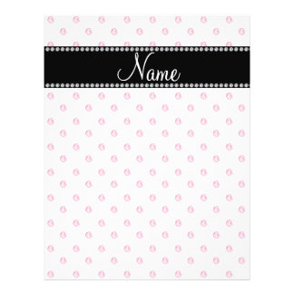 Personalized name White pink diamonds Personalized Flyer