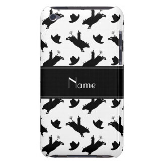 Personalized name white rodeo bull riding pattern iPod touch Case-Mate case