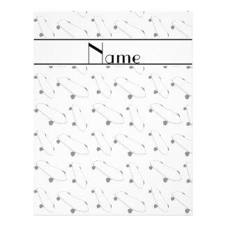 Personalized name white skateboard pattern 21.5 cm x 28 cm flyer