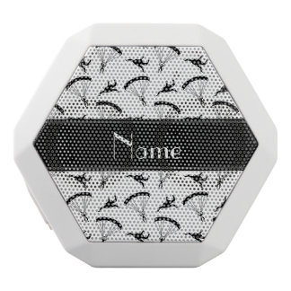Personalized name white skydiving pattern