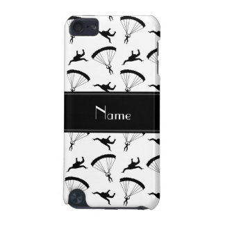 Personalized name white skydiving pattern iPod touch 5G case