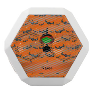 Personalized name witch orange bats white boombot rex bluetooth speaker