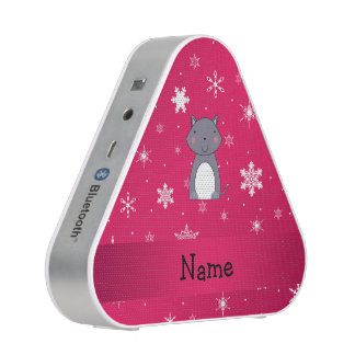 Personalized name wolf pink snowflakes