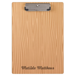 Personalized name wood illustration background clipboard