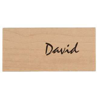 Personalized name wooden USB stick flash drive Wood USB 2.0 Flash Drive