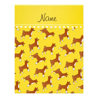 Personalized name yellow basenji dogs 21.5 cm x 28 cm flyer