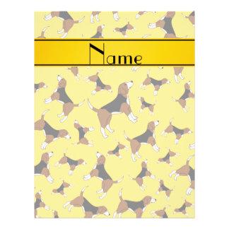 Personalized name yellow beagle dog pattern 21.5 cm x 28 cm flyer