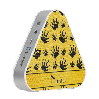 Personalized name yellow bear paw prints