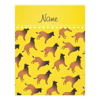 Personalized name yellow belgian tervuren dogs 21.5 cm x 28 cm flyer