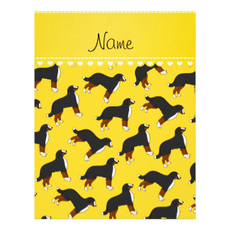 Personalized name yellow Bernese Mountain dogs 21.5 Cm X 28 Cm Flyer