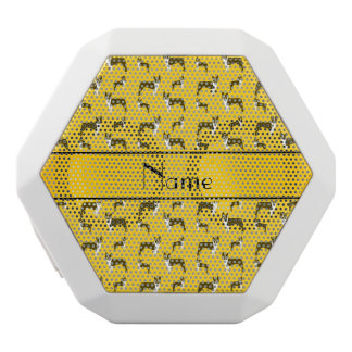 Personalized name yellow boston terrier white boombot rex bluetooth speaker
