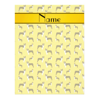 Personalized name yellow boston terrier full color flyer