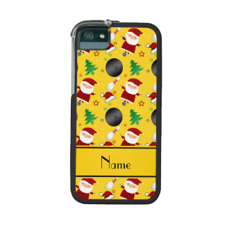 Personalized name yellow bowling christmas pattern case for iPhone 5