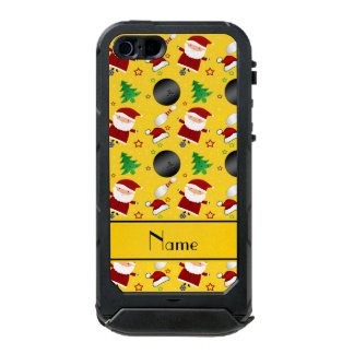 Personalized name yellow bowling christmas pattern incipio ATLAS ID™ iPhone 5 case