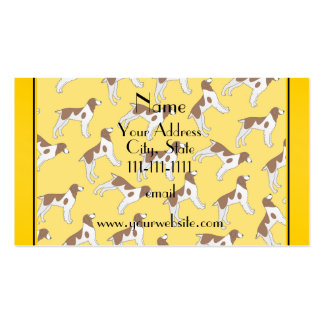 Personalized name yellow brittany spaniel dogs pack of standard business cards