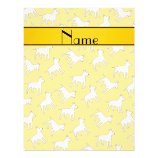 Personalized name yellow bull terrier dogs 21.5 cm x 28 cm flyer