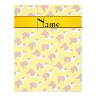 Personalized name yellow Bulldog 21.5 Cm X 28 Cm Flyer