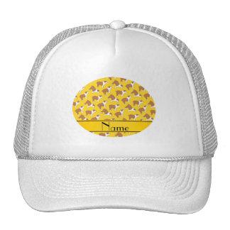 Personalized name yellow Bulldog Cap