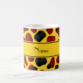 Personalized name yellow checkers game coffee mugs