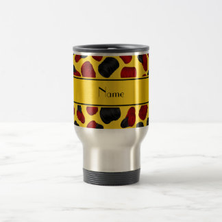 Personalized name yellow checkers game mugs