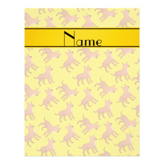Personalized name yellow chihuahua dogs 21.5 cm x 28 cm flyer