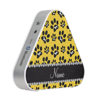Personalized name yellow dachshunds dog paws