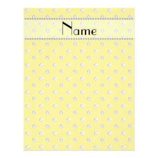 Personalized name yellow diamonds flyer design