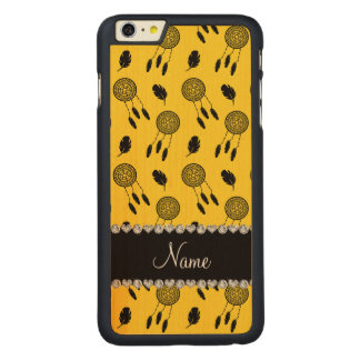 Personalized name yellow dreamcatchers iPhone 6 plus case