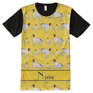 Personalized name yellow English Setter All-Over Print T-Shirt