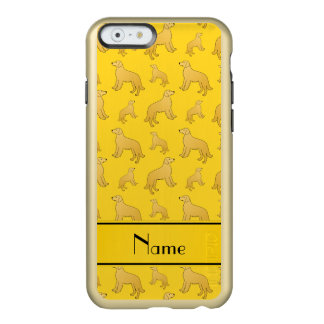 Personalized name yellow Golden Retriever dogs Incipio Feather® Shine iPhone 6 Case