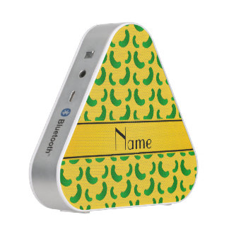 Personalized name yellow green pickles bluetooth speaker