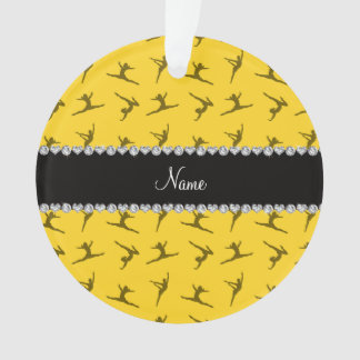 Personalized name yellow gymnastics pattern