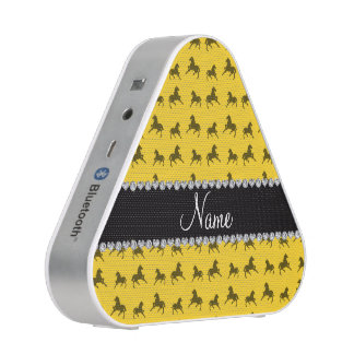 Personalized name yellow horse pattern