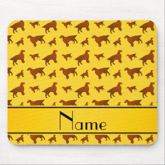 Personalized name yellow irish setter dogs mouse pad