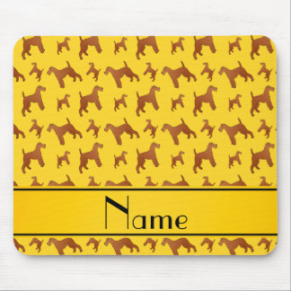 Personalized name yellow irish terrier dogs mouse pad