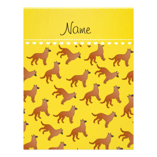 Personalized name yellow malinois dogs 21.5 cm x 28 cm flyer