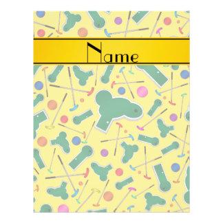 Personalized name yellow mini golf custom flyer
