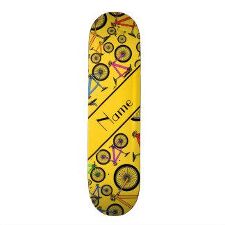 Personalized name yellow mountain bikes custom skateboard
