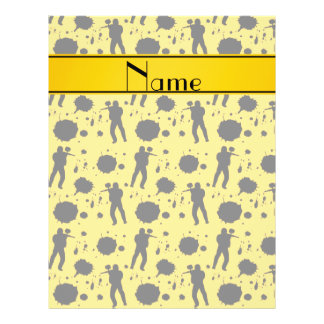 Personalized name yellow paintball pattern 21.5 cm x 28 cm flyer