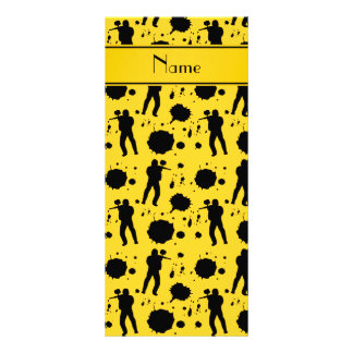 Personalized name yellow paintball pattern personalized rack card